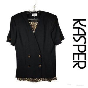 LIKE NEW KASPER Leopard Skirt Suit Sz 10